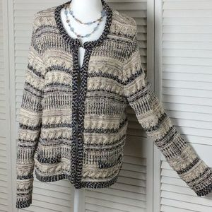Chico's hook front cardigan size XL/16 sweater